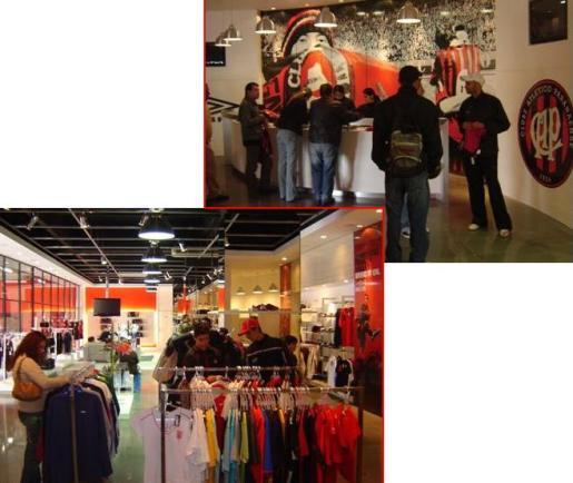 Imagens da Arena Store