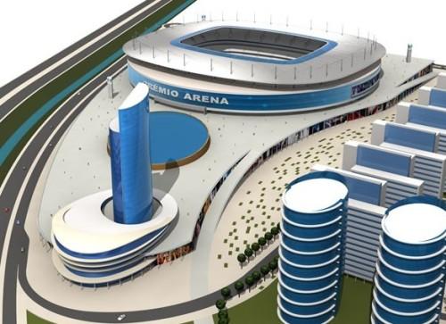 Maquete da nova arena do Grêmio