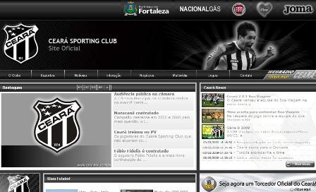 """Site do Ceará está na """"primeira divisão"""" do futebol brasileiro na Internet"""