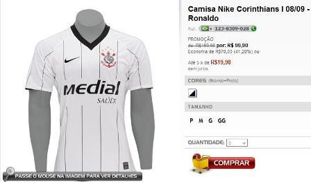 Ronaldo - Camisa Medial